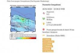 Gempa Magnitud0 6,3 di Jayapura Tak Berpotensi Tsunami
