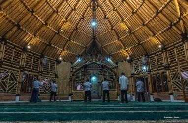 Saka Buana, Masjid Bambu Terbesar Dibangun di Banten