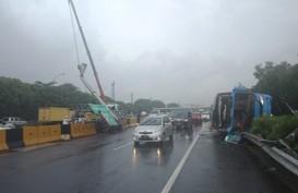 Bus DAMRI Kecelakaan di Tol Sedyatmo, BPTJ Turun Tangan