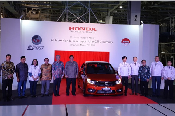 Peresmian ekspor All-new Honda Brio ke Vietnam dan Filipina. - BISNIS.com