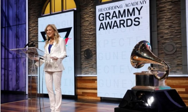 CEO The Recording Academy Deborah Dugan mengumumkan nominasi untuk Grammy Awards 2020 pada konferensi pers di Manhattan, New York, AS 20 November 2019. Sumber: Reuters