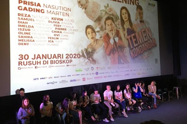 Press Screening film Temen Kondangan - Bisnis/Akbar Evandio