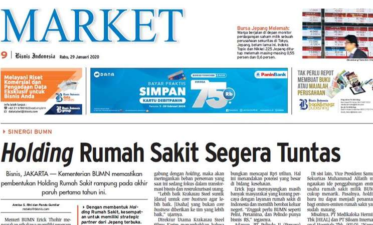 Bisnis Indonesia edisi 29 Januari 2020