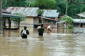 Ratusan Rumah Terendam Banjir di Tapanuli Selatan