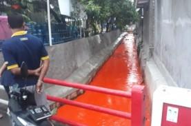 Sungai di Gresik Berwarna Oranye Tercemari Pewarna…