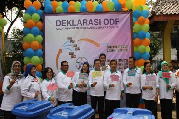 Pemerintah Kota Jakarta Selatan mendeklarasikan Kelurahan Setiabudi dan Kelurahan Guntur sebagai wilayah bebas buang air besar sembarangan (BABS), Rabu (17/10). -  Humas Pemerintah Kota Jakarta Selatan