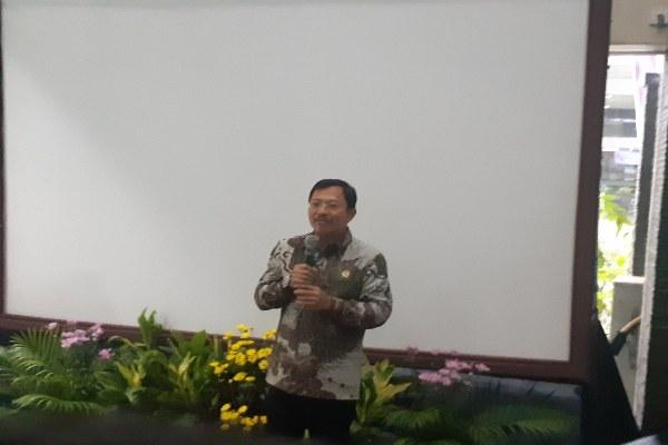 Menteri Kesehatan Terawan Agus Putranto memberi sambutan pada peresmian Pelayanan Kanker Terpadu (PKaT) RS Cipto Mangunkusumo, Selasa (4/2/2020) - Gloria Fransisca