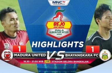 Madura United vs Bhayangkara FC 1-1, Persebaya Puncaki Grup A