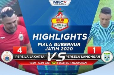 Persija Hajar Persela 4-1, Puncaki Grup B Piala Gubernur Jatim
