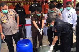 Polda Kepri Musnahkan 24 Kg Sabu dan Puluhan Ribu…