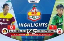 Madura United Tekuk Persik Kediri 1-0, Buka Peluang ke Semifinal
