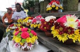 Penjualan di Pasar Kembang Cikini Meningkat pada Hari Valentine 2020