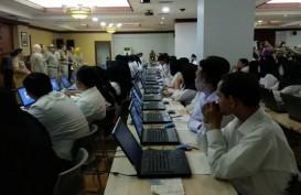 Ribuan Peserta Tes CPNS DKI 2019 di Kantor Wali Kota Jaksel