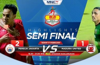 Persija Tekuk Madura United 2-1, ke Final Tunggu Persebaya vs Arema FC