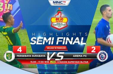 Persebaya Hajar Arema FC 4-2, Jumpa Persija di Final Piala Gubernur Jatim 2020