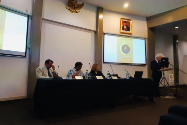 Seminar konservasi dan valorisasi warisan budaya dari Kedubes Italia dan Institut Kebudayaan Italia Jakarta di Galeri Nasional Indonesia, Jakarta, Rabu (19/2/2020). - Syaiful Millah
