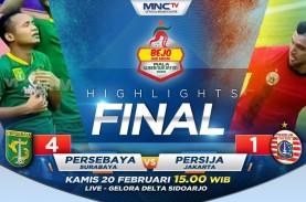 Persebaya Hajar Persija 4-1, Juarai Piala Gubernur…