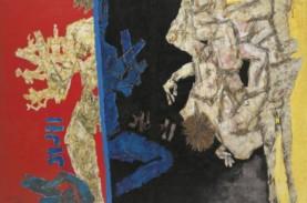 Lukisan 'Pertempuran Ganga dan Yamuna' karya MF Husain…