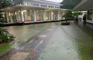 Penampakan Istana Kepresidenan Kebanjiran