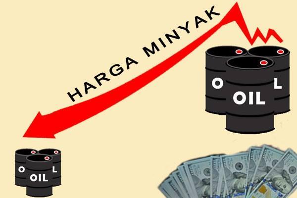 Ilustrasi harga minyak mentah turun - Antara