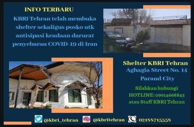 KBRI Iran Dirikan Shelter Tanggap Corona