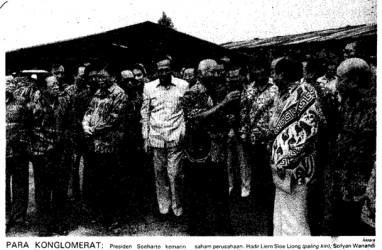 Historia Bisnis: Bagi-Bagi Saham, 31 Konglomerat Kumpul di Tapos