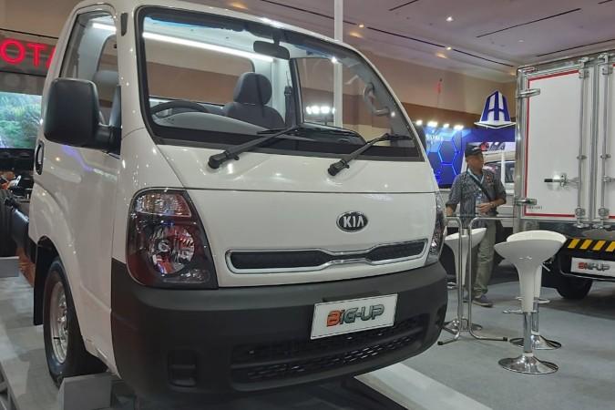 Kia Big-Up dipamerkan diajang Gaikindo Indonesia International Commercial Vehicle (Giicomvec) 2020 di Jakarta, Kamis (5/3/2020) - Setyo Aji Harjanto.