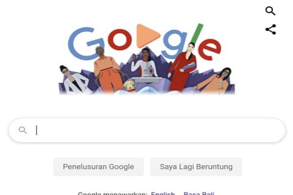 Google menampilkan doodle Hari Perempuan Internasional, menunjukkan dukungannya terhadap hak-hak dan peran wanita. - istimewa