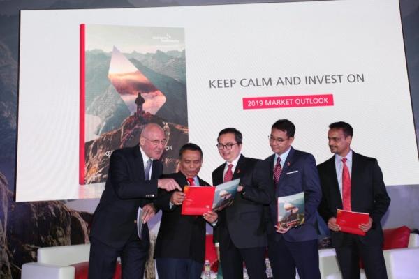 """Eastpring Investment Indonesia menggelar acara Market Outlook 2019 untuk para nasabah dan mitra bisnisnya dengan tajuk """"Keep Calm and Invest On"""", pada Selasa (26/2/2019). - Istimewa"""