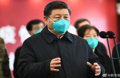 Hanya Bermasker, Presiden Xi Jinping Besuk Pasien Covid-19 di Wuhan