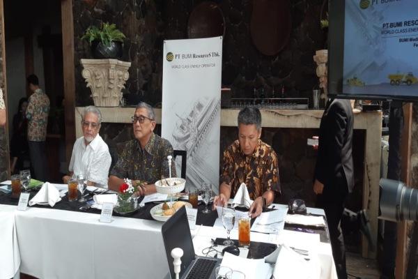 Presiden Direktur Bumi Resources Saptari Hoedjaja menjelaskan bahwa perseroan mematok penjualan 2019 sebesar 96 juta ton./Bisnis - Dara Aziliya