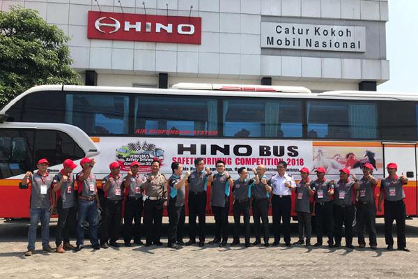 Hino mengajak 60 pengemudi bus untuk ikut tes hari pertama.  - Bisnis/HINO