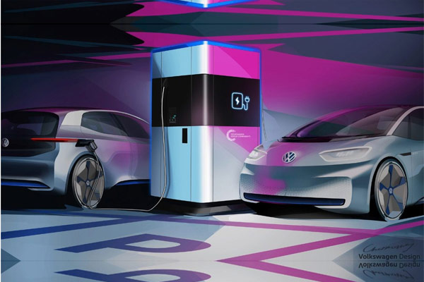 Di masa depan, pabrik Hanover akan memproduksi stasiun pengisian cepat yang fleksibel dari Grup Volkswagen Komponen. - VOLKSWAGEN