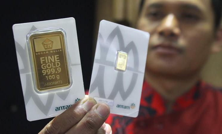 Harga Emas Antam 24 Karat Hari Ini 18 Maret 2020 Naik Tajam Market Bisnis Com