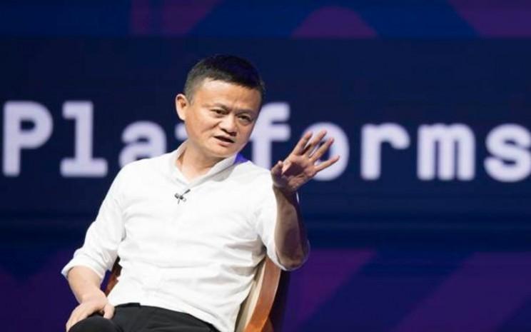 Pendiri Alibaba Jack Ma menjadi pembicara di sela-sela Pertemuan Tahunan IMF - World Bank Group 2018 di Bali Nusa Dua Convention Center, Nusa Dua, Bali, Jumat (12/10/2018). - ANTARA - M Agung Rajasa
