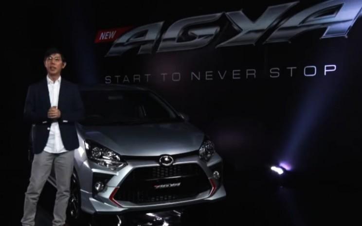 Tangkapan layar peluncuran Toyota New Agya di YoutubeToyota Indonesia, Kamis (19/3/2020) - Bisnis/Setyo Aji Harjanto.