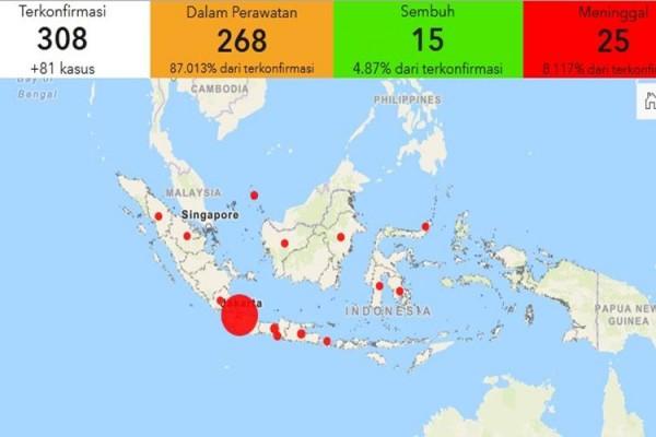 Link Situs Peta Interaktif Sebaran Virus Corona Di Indonesia Kabar24 Bisnis Com