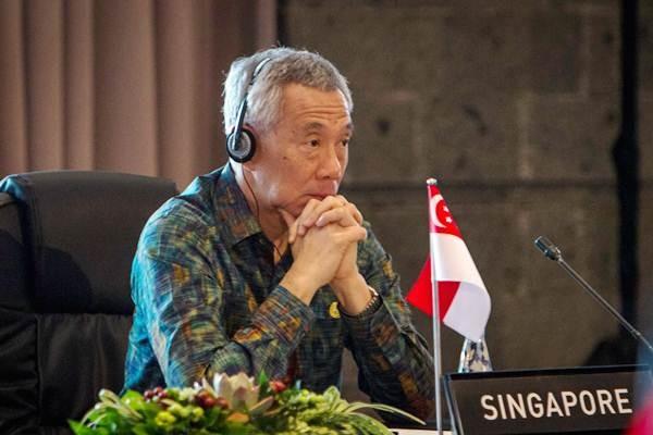 Perdana Menteri Singapura Lee Hsien Loong mengikuti pertemuan ASEAN Leaders Gathering di Hotel Sofitel, Nusa Dua, Bali, Kamis (11/10/2018). - ANTARA/Afriadi Hikmal