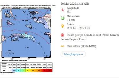 Gempa Bumi Tektonik Guncang Laut Seram