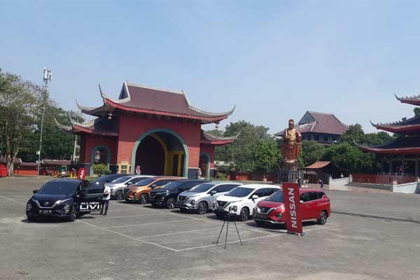 Test drive All New Nissan Livina dimulai dari Klenteng Sam Poo Kong, Semarang, menuju Solo dan Yogyakarta pada 24-25 Juni 2019.  - BISNIS.COM/Aprianus Doni Tolok
