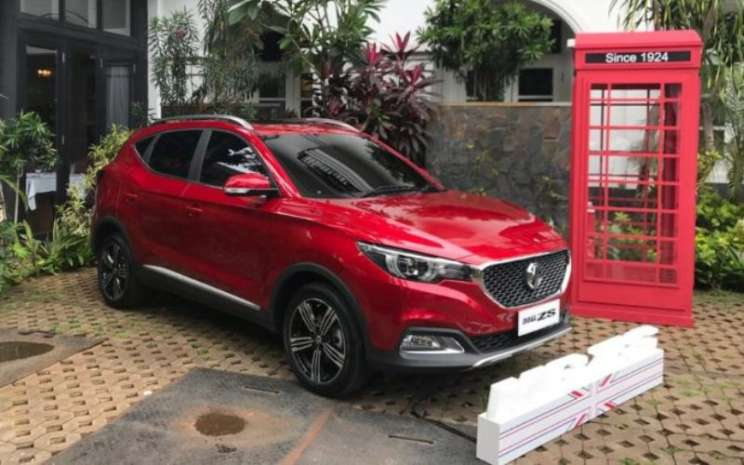 MG ZS ditampilkan dalam sesi pengenalan anak usaha Morris Garage di Indonesia, di Jakarta, Kamis (5/3/2020) - Bisnis.com - Fatkhul Maskur.
