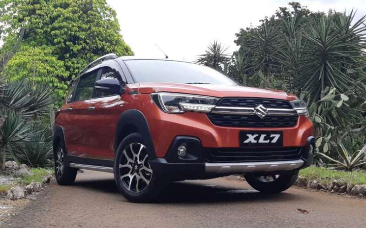 Tampilan Suzuki XL7 yang diluncurkan PT Suzuki Indomobil Sales di Jakarta, Sabtu (15/2/2020) - Bisnis/Dionisio Damara.