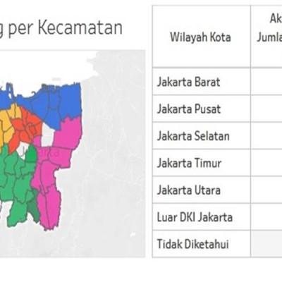 Update Peta Sebaran 524 Orang Positif Covid 19 Di Jakarta
