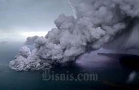 Anak Krakatau Level Waspada, Tinggi Letusan Abu Vulkanik 657 Meter