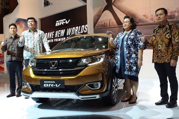 Peluncuran New Honda BR-V di IIMS 2019, Kamis (25/4/2019). - Bisnis.com/Aprianus D Tolok