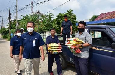 Pusri Libatkan Mitra Binaan Produksi Ribuan Masker Kain