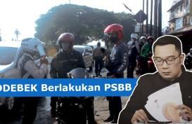 PSBB Bodebek, Pengendara Disetop Karena Berboncengan