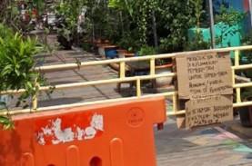 Hari Pertama PSBB Kota Tangerang, Warga Tutup Akses…