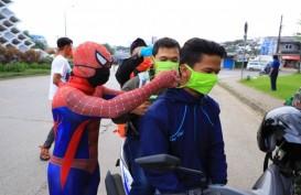 Ada Spiderman di PSBB Hari Pertama Kota Tangerang