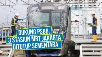 Stasiun MRT Jakarta Ditutup untuk Umum